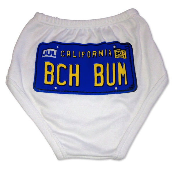 Sol Baby California License Plate BCHBUM White Diaper Cover