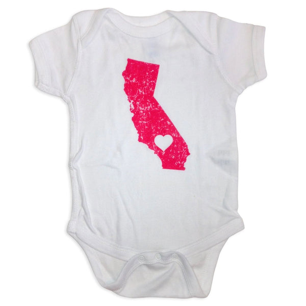 Sol Baby California Love White/Pink Onesie