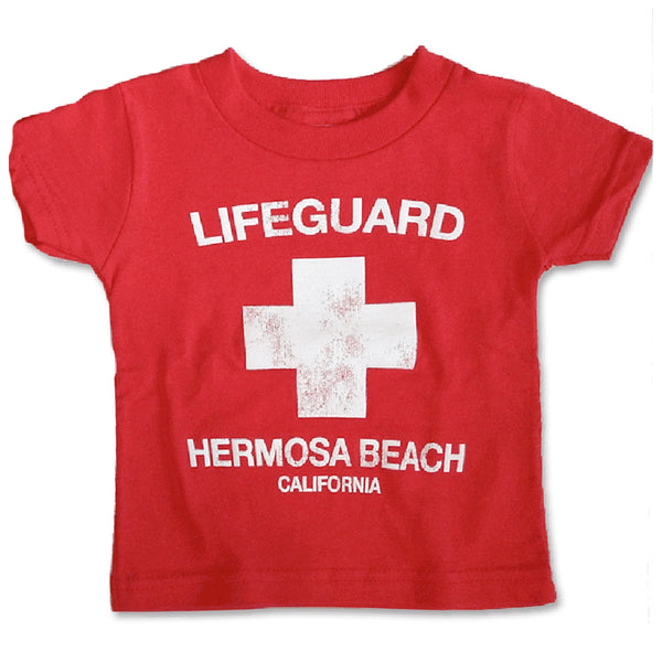 Sol Baby Hermosa Beach Lifeguard Heather Red Tee