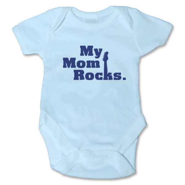 Sol Baby Original Blue My Mom Rocks Onesie