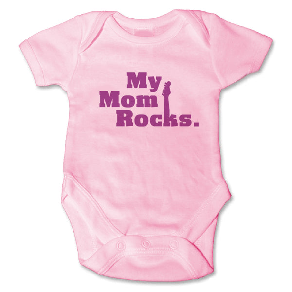 Sol Baby Original Pink 'My Mom Rocks' Onesie