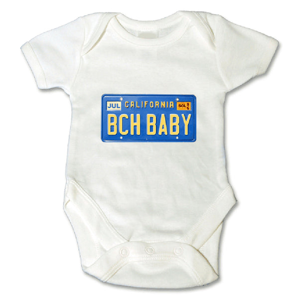 Sol Baby Original BCHBABY California License Plate Onesie