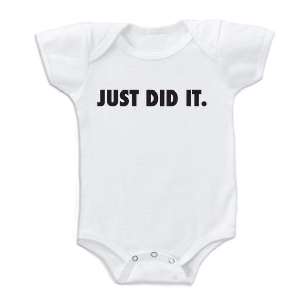 Sol Baby 'Just Did It' Onesie