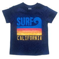 Sol Baby Surf California Wave Heather Navy Tee