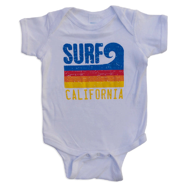 Sol Baby Surf California Wave White Bodysuit