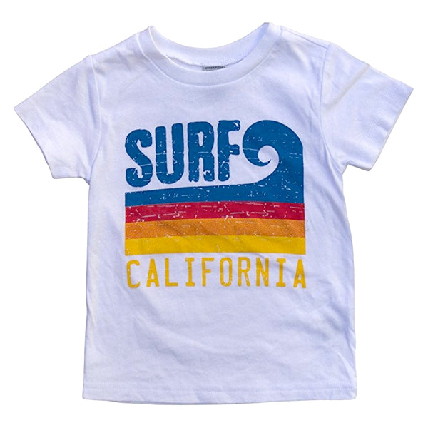 Sol Baby Surf California Wave White Tee