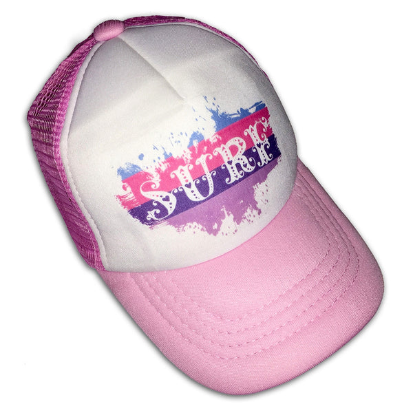 Sol Baby Surf Splash Pink Trucker Hat