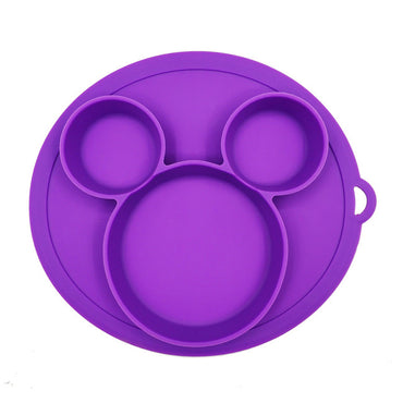 Baby Plate Cartoon Bear Paw Shape Children Dinner Dishes Tableware Kids Feeding Bowls