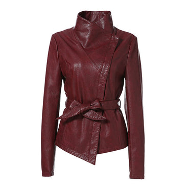 Fashion Ladies Jackets For Women Spring Leather Coat