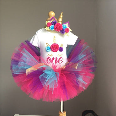 1 Year/ 12 Month Girl Baby Birthday Dress Special birthday gift for baby girl