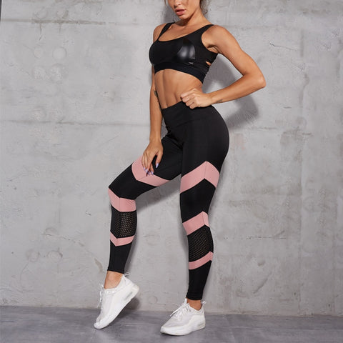 High Waist Yoga Pants Women Sport Leggings Gym Sportswear