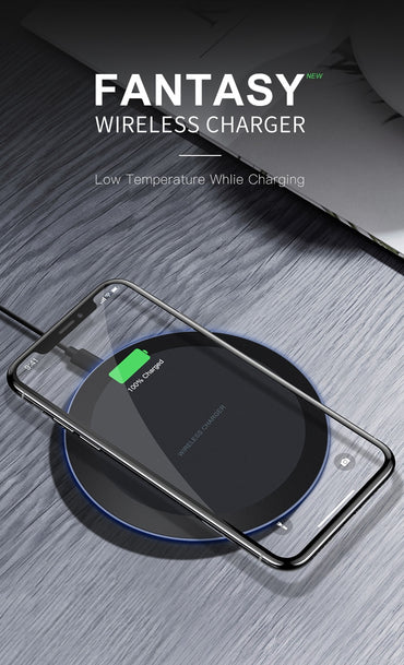 Wireless Charger for iPhone X Xs MAX XR 8 plus Samsung S8 S9 Plus Note 9 8 USB Phone Charger Pad