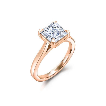 Classic Ring with Square Cutting Rings for Women