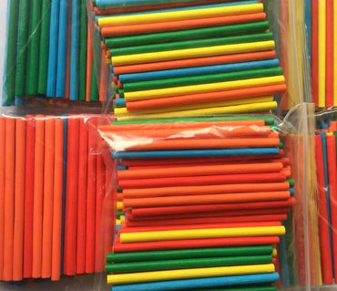 100pcs Colorful Bamboo Counting Sticks Mathematics Montessori Teaching Learning Toy