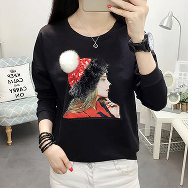 Ladies Tshirt Women Tops Casual Cotton Autumn And Winter Tee Shirt