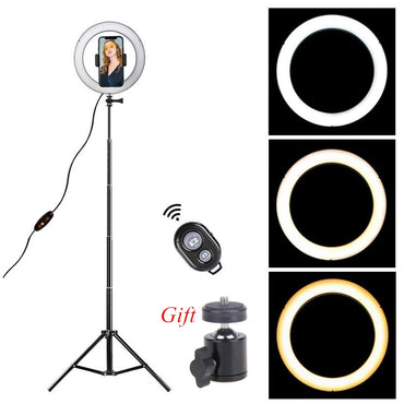 LED Ring Light 8.6 inch Camera Ringlight Tripod Stand Cell Phone Holder For YouTube Photography Photo Video Studio