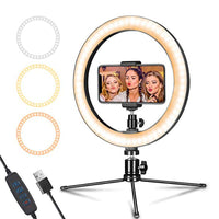 Ring Led Selfie Phone - Video Camera Light Photography Studio Makeup Lamp With Tripod Phone Holder
