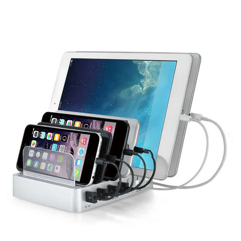 Multi Port Fast Charging Usb Phone Charger 6 Ports Dock Station