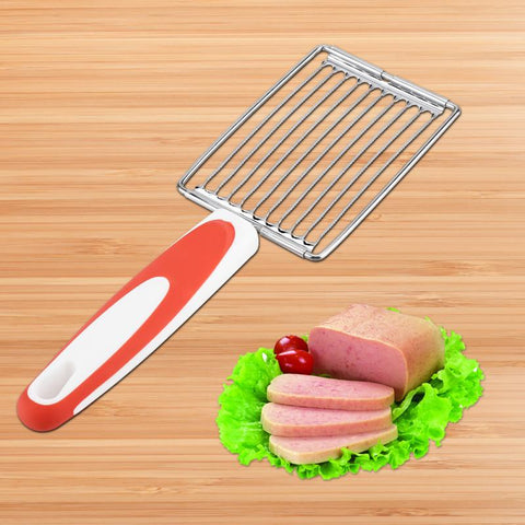 Food Cutting Tool, Stainless Steel Meat Cutter Ham Fruit Tomato Cheese Kitchen Soft