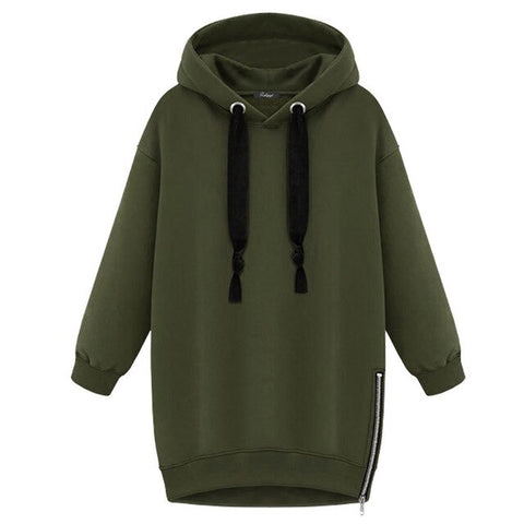 High quality New Winter Autumn Loose Thick Hooded Jacket
