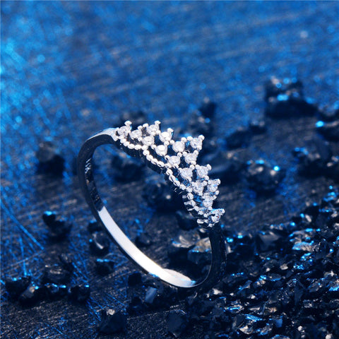 Silver Color Fashion Cubic Stylish Ring Jewelry