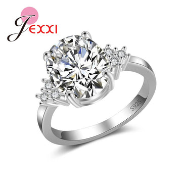 Silver Ring Women Pretty Charming Gifts Anniversary Suitable Hot items