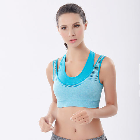 Top Fitness  Two Pieces Yoga Sports Gym Bra