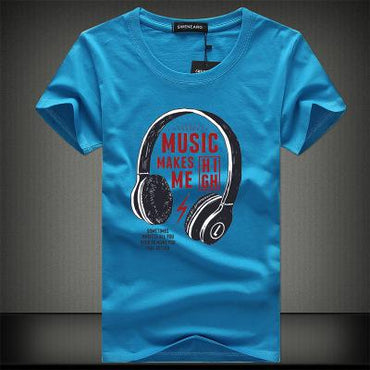Men  Summer Music T-shirt Spring, Summer, Autumn