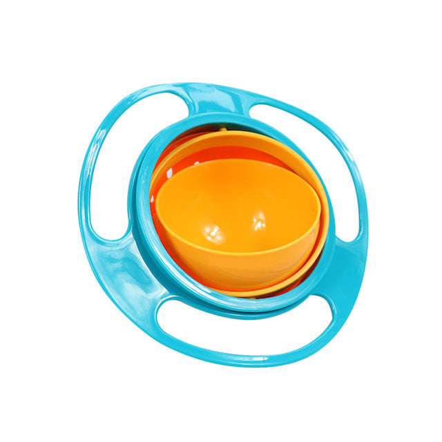 Baby Feeding Dish Cute Baby Bowl 360 Rotate Spill-Proof Bowl