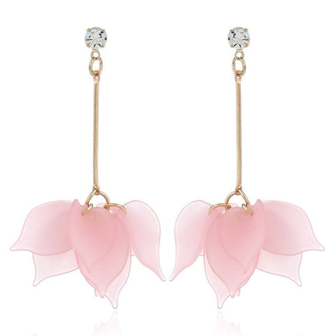 Women fashion long hanging earrings crystal female wedding earrings party jewelry
