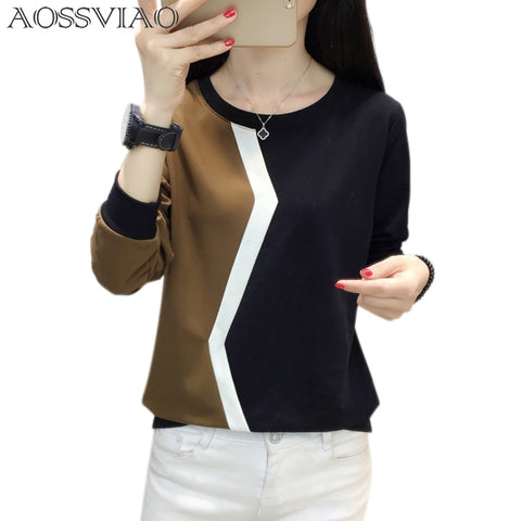 T-shirt women tops autumn and winter ladies tee shirt