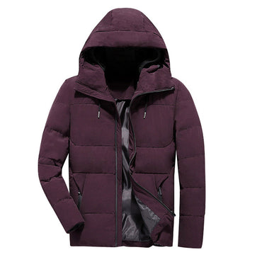 Winter Jacket Men Clothes Casual Stand Collar Hooded