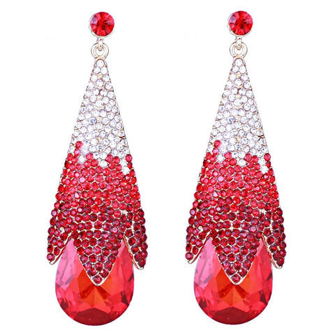 Jewelry Women Luxury Wedding Party Multicolor Drop Earrings