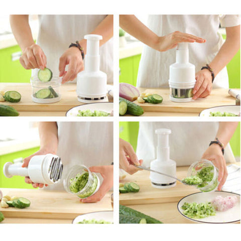 Pressing Semi-automatic Stainless Steel Kitchen Slicer Peeler Onion Chopper