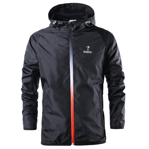 New Spring Summer Autumn Mens Fashion Outerwear Motorbike Windbreaker Jackets Hooded