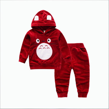 2Pcs/Sets Spring Autumn Children Boys Girls Cartoon Clothing Suits Baby Hoodies Pants