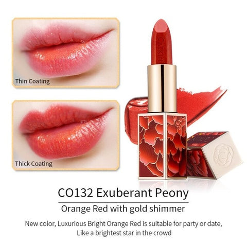 Lipstick Wedding Red Gorgeous Peach Smooth Soft Texture Protects Lip Skin