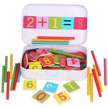 Wooden Baby Educational  Math Counting Sticks Toys