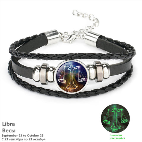Zodiac Sign Bracelet for Men Boys Women Girl and Couple Lovers Bracelets