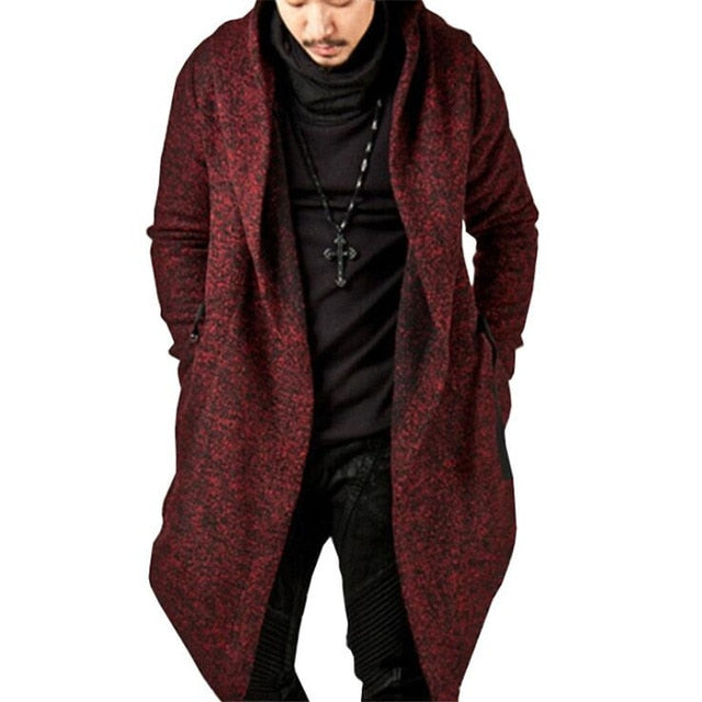 Men's hooded trench coat autumn winter fashion Slim jacket