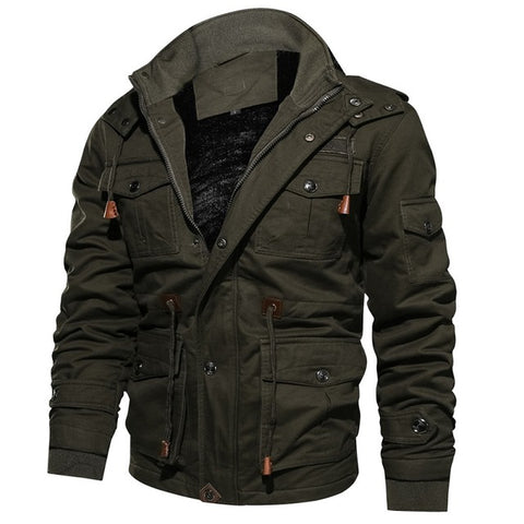 Brand new Military Type Jacket Men Winter Autumn Thick Cargo Jacket Coat Thermal Fleece Pilot Jackets