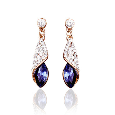 1 pair Girls Fashion Crystal water drop Earrings Fashion Jewelry 4 colors