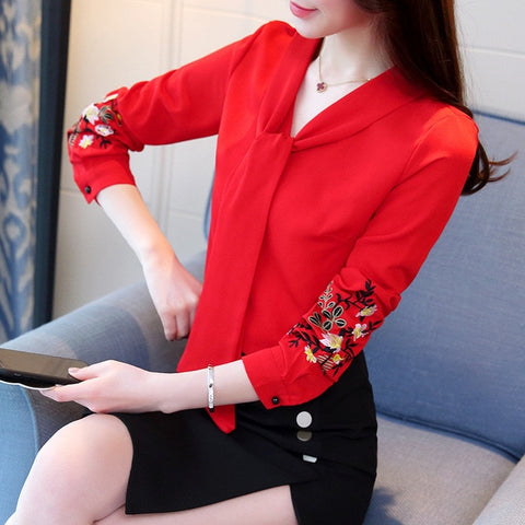 Womens Long sleeve blouse tops