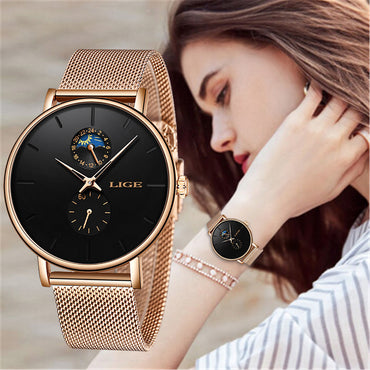 Women Luxury Brand Watch Simple Quartz Lady Waterproof