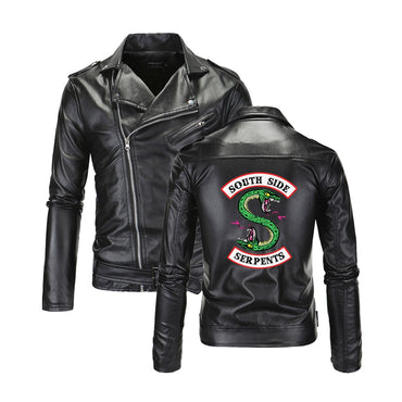 Southside Men Leather Jackets Turn-down collar Leather Jackets