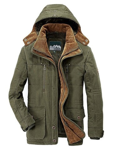 Winter Jacket Men size High Quality Fleece Cotton-Padded Parkas Military Overcoat clothing