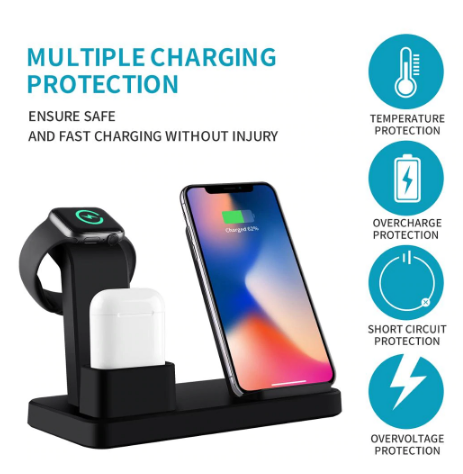 3 In 1 Smart Wireless Charger Station For Apple Watch and phones