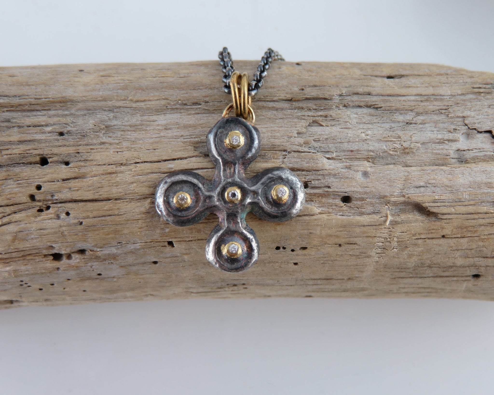 oxidized jewelry and crossnecklace silver products gold diamond handcrafted cross jewellery necklace