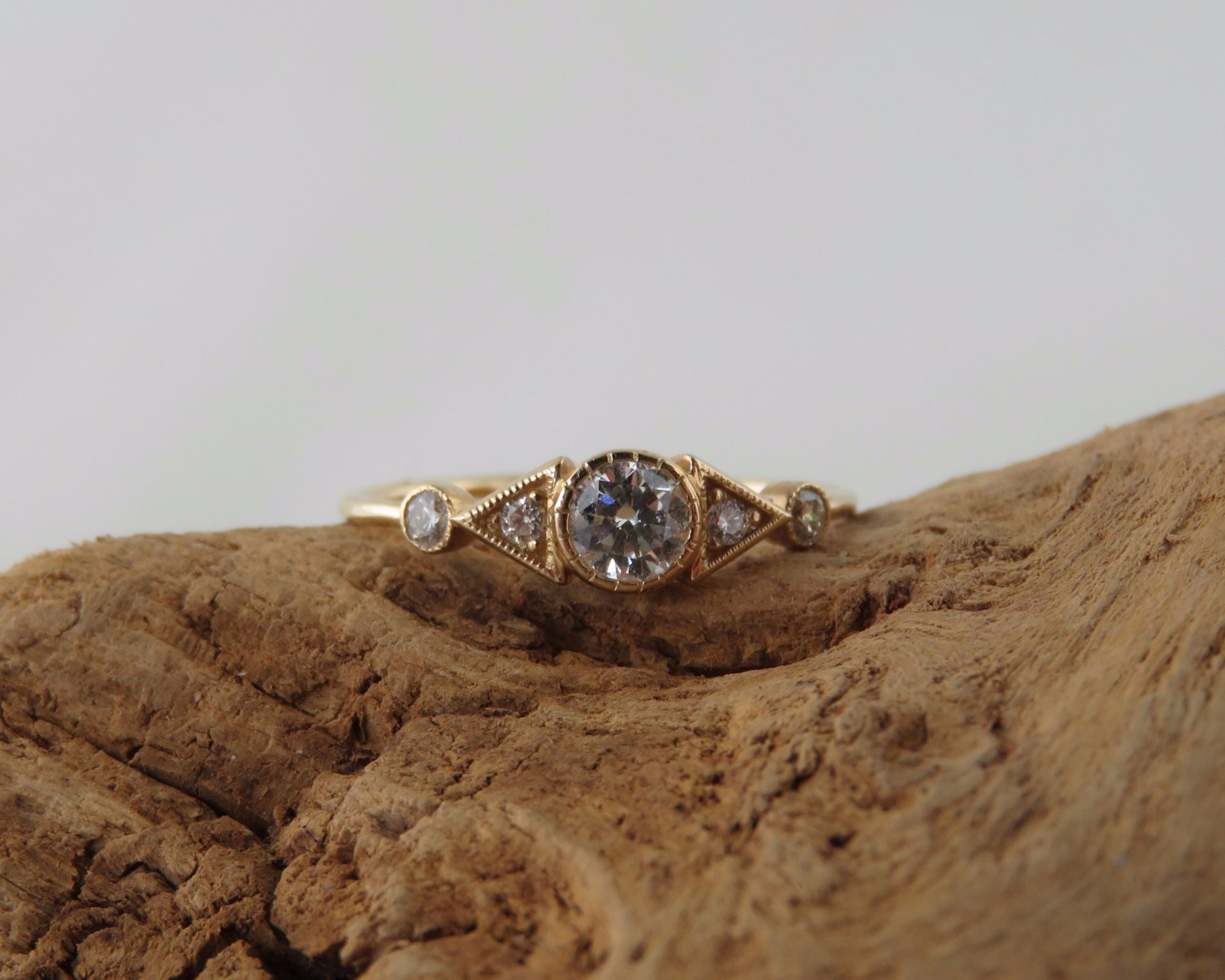 Diamond Deco Spear Ring