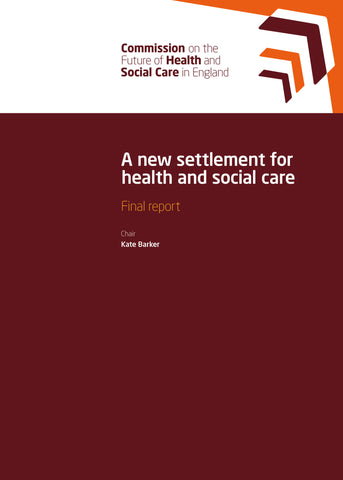 A new settlement for health and social care